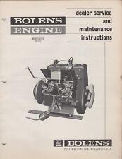 1970 BOLENS SNOWMOBILE ENGINE MODEL 2Z15 315cc DEALER SERVICE MANUAL (162)