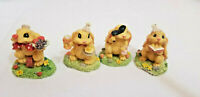 Easter bunny figurines Michaels Bunny holding Goblet, Bunny holding food Tray +