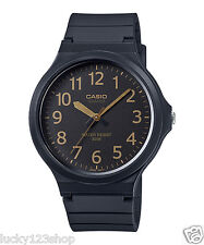 MW-240-1B2 Black Casio Watches Unisex Water Resist Analog Resin Band Brand-New