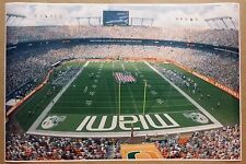 """University of Miami Hurricanes FULL SIZE 24"""" x 36"""" Poster College Football NCAA"""
