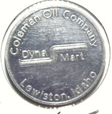 Lewiston Idaho Coleman Oil Company Good For 50c Trade Aluminum 28mm Token