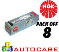 NGK Laser Platinum Spark Plug set - 8 Pack - Part Number: BKR6EQUP No. 3199 8pk