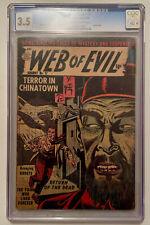Vintage Quality Comics WEB OF EVIL #17 Opium Story Comic Book - CGC 3.5 10C