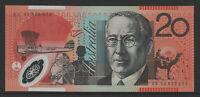 Stevens / Henry 2008 : First prefix AA08 Australian $20 Polymer Banknote. Unc.