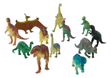 12 Pack Lot 5-7 inch Large Assorted Dinosaurs Kids Toy Figures Thick Plastic