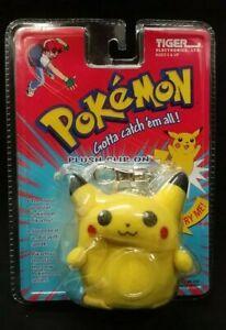 Vintage 1999 Tiger Electronics Pokemon Pikachu Talking Clip-On / Key Chain *New*