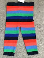 NEXT-MULTI-COLOURED STRIPED COTTON KNIT LEGGINGS (MATCHING DRESSES FOR SALE)BNWT