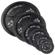 255 lbs. of Olympic Weight Plates - OSB255 Body-Solid Iron Strength Equipment