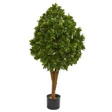 "Tea Leaf Artificial Tree UV Resistant Nearly Natural 41"" Home Garden Decor"