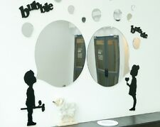 NEW 1SET - 17pcs Round Acrylic Bubble Mirror Wall Home Decor Interior Design