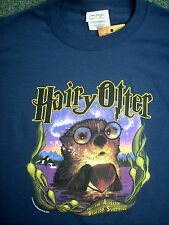 Harry Potter Unisex T-Shirt: Hairy Otter! Blue,Teal,Purple,Pink- All Brand New!