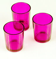 Pink 6cm Glass Tealight Votive Candle Holder Bomboniere Wedding home BUY QTY RQD