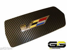Carbon Fiber  Cadillac CTS & CTS-V Coupe Cup Holder Cover WITH Embedded V Emblem