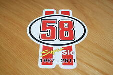 Marco Simoncelli Number 58 Sticker