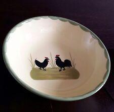Coq et poule 1 Coque Zeller Céramique servierteile. Peinte