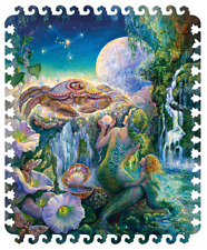 Wooden Jigsaw puzzle DaVICI Zodiac sign Cancer 100 pcs Artist Josephine Wall NEW