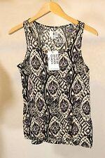 Fashion One by Vero Moda Women Blouse Tank Top Black White Size S
