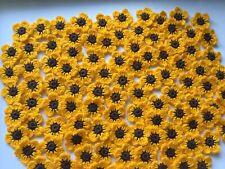 20xNew Lovely Crochet Summer Flowers Applique Embellishment-Sunflowers