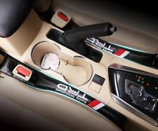 2pcs Carbon Fiber TRD Sports Car Seat Pad Gap Filler  Corolla Yaris Vios