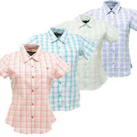 Regatta Jenna Womens Short Sleeve Coolweave Cotton Casual Summer Shirt