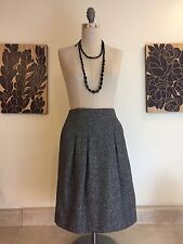 Anthropologie Cynthia Steffe Tweed Pleated Cotton Blend A-Line Skirt Size 10