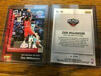 2019-20 Panini Instant NBA #134 ZION WILLIAMSON Pelicans Rookie RC SP #/2,589