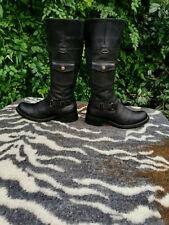 Timberland black leather knee high boots UK size 5.5 EU 38.5