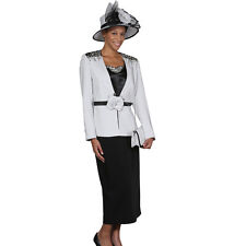 Sunday Best Women Church Suit - Soft Crepe Fabric - Standard to Plus Size - 394
