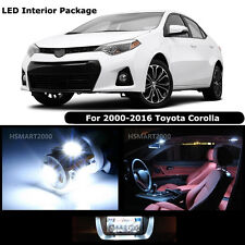 8PCS Cool White LED Bulbs Interior Package Kit for 2010 Toyota Corolla