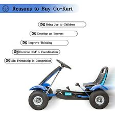 Kids Ride On Car Outdoor Go Kart Toys 4 Wheel Powered Ride on for Boys Gift Blue