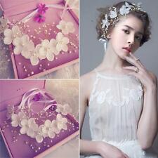 Ladies Flower Fairy Wedding White Bridal Party Hair Headband Crown Prop Garland
