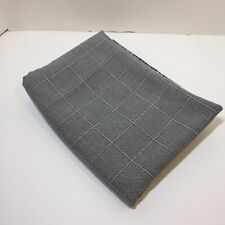 """1.25 Yards Blue White Window pane Suiting Fabric 58"""""""" wide Polyester Cotton"""