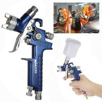 1.0mm HVLP Gravity Feed Spray Gun Kit Set Car Furniture Paint Spraying Tool Q2K3
