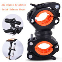 Bicycle Light Bracket Holder LED Torch Headlight Quick Release Mount Rotatable