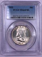 1955 PCGS MS64FBL Franklin Half Dollar