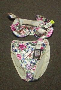Vanity Fair Body Sleeks Underwire Bra 38C & Hi Cut Panty L Ensemble  Cloisonne
