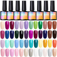 8ml 90 Colors Soak Off UV Gel Nail Polish UV/LED Gel Nails  DIY LILYCUTE