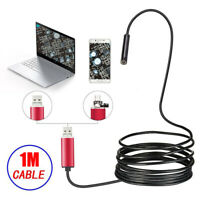 2 in 1 Endoscope 5.5mm LED Snake Inspection Camera Lens IP67 for Phone PC Laptop