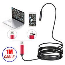 2 en 1 Endoscopio Cámara De Inspección Serpiente Led 5.5mm Lente IP67 para Teléfono PC Laptop