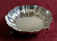 VTG Oneida O L Small Silver Plated 3 Footed Bowl Candy Nut Dish