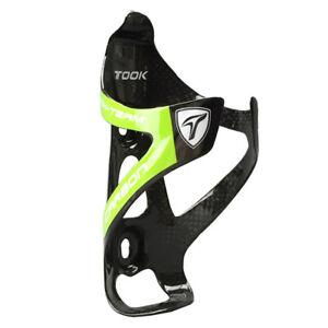TOSEEK Cycling MTB Road Bike Carbon Fiber Water Bottle Cage Holder Rack Mount