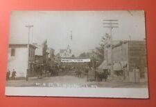 ZM 346 RPPC Main St Blanchardville Wis 1912 PM