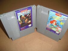 The Little Mermaid & Willow in VERY GOOD COND for NES Nintendo! Authentic