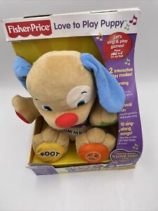 Fisher Price Laugh & Learn Love to Play Puppy Interactive Learning Singing NEW