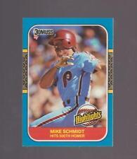 1987 Donruss Highlights # 2 Mike Schmidt Philadelphia Phillies NEAR MINT - MINT
