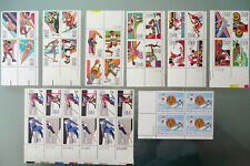 Collection of 1980 Winter 1984 Summer Winter Special Olympics USA Stamps