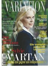 SYLVIE VARTAN- REVUE MADE IN FRANCE VARIATION N° 5- DECENMBRE 2015+ 6 PAGES+ BON