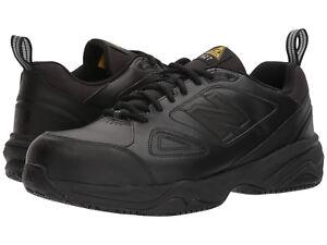 Men New Balance MID627B2 Steel Toe Work Shoes Extra Wide 4E Black 100% Original