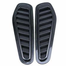 ABS Truck Car Hood Scoop Black Carbon Fiber Look Air Decorative Intake Vent us