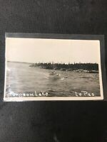 real photo Postcard Sturgeon Lake Le Pas Cargo Boat With Supplies & KidsBoat  A1